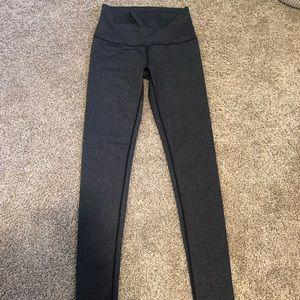Lululemon high waisted leggings size 6 gray